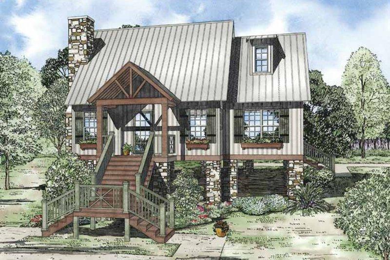Dream House Plan - Mediterranean Exterior - Front Elevation Plan #17-3306