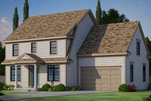 Colonial Exterior - Front Elevation Plan #20-2249