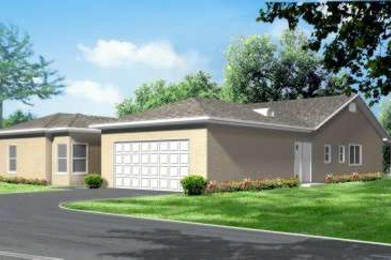 Adobe / Southwestern Style House Plan - 6 Beds 2.5 Baths 2473 Sq/Ft Plan #1-571