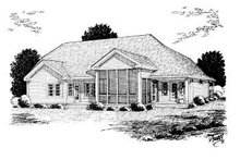 House Plan Design - Country Exterior - Rear Elevation Plan #20-2007