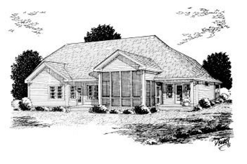 Country Exterior - Rear Elevation Plan #20-2007 - Houseplans.com