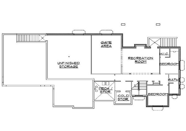 Traditional Floor Plan - Lower Floor Plan Plan #5-273