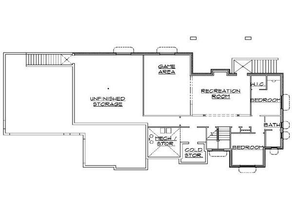 House Plan Design - Traditional Floor Plan - Lower Floor Plan #5-273