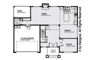 Contemporary Style House Plan - 3 Beds 2.5 Baths 2543 Sq/Ft Plan #1066-4 Floor Plan - Main Floor
