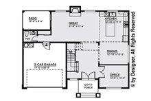 Contemporary Floor Plan - Main Floor Plan Plan #1066-4