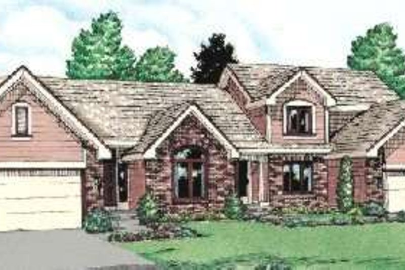 Traditional Exterior - Front Elevation Plan #20-1579 - Houseplans.com