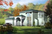 Adobe / Southwestern Style House Plan - 4 Beds 2.5 Baths 2511 Sq/Ft Plan #1-1128 Exterior - Front Elevation