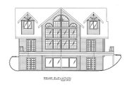 Log Style House Plan - 3 Beds 2.5 Baths 2281 Sq/Ft Plan #117-675 Exterior - Rear Elevation