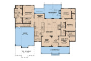 Country Style House Plan - 4 Beds 3 Baths 2220 Sq/Ft Plan #923-122 Floor Plan - Main Floor