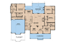 Country Floor Plan - Main Floor Plan Plan #923-122