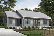 Modern Style House Plan - 2 Beds 2 Baths 1604 Sq/Ft Plan #23-2715 Exterior - Front Elevation