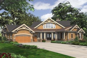 Craftsman Exterior - Front Elevation Plan #132-211