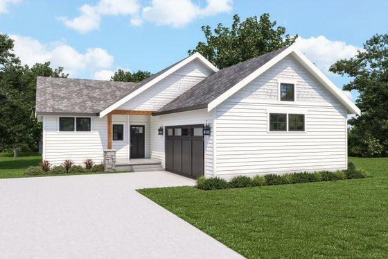 House Blueprint - Craftsman Exterior - Front Elevation Plan #1070-124