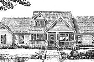 Craftsman Exterior - Front Elevation Plan #310-606