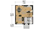 Contemporary Style House Plan - 3 Beds 1 Baths 1456 Sq/Ft Plan #25-4295 Floor Plan - Main Floor Plan