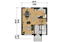 Contemporary Floor Plan - Main Floor Plan Plan #25-4295