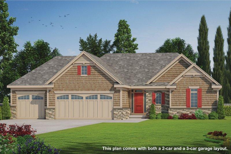 Home Plan - Craftsman Exterior - Front Elevation Plan #20-2066