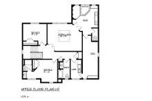 Craftsman Floor Plan - Upper Floor Plan Plan #320-491