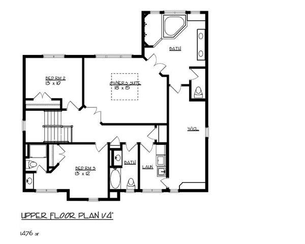 Home Plan - Craftsman Floor Plan - Upper Floor Plan #320-491