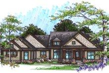 Home Plan Design - Ranch Exterior - Front Elevation Plan #70-1036