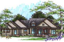 Dream House Plan - Ranch Exterior - Front Elevation Plan #70-1036
