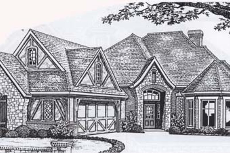 Dream House Plan - Traditional Exterior - Front Elevation Plan #310-833