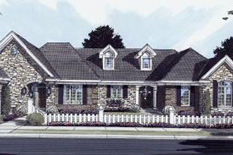 Traditional Exterior - Front Elevation Plan #46-397 - Houseplans.com