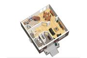 European Style House Plan - 3 Beds 1 Baths 1367 Sq/Ft Plan #25-4711 Floor Plan - Main Floor Plan