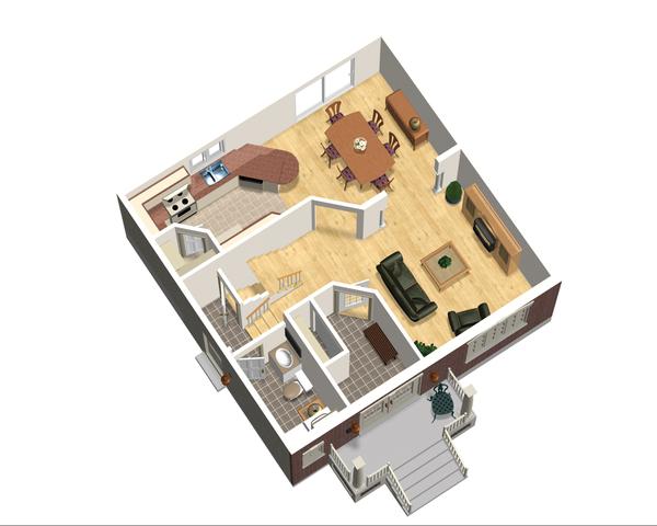 European Floor Plan - Main Floor Plan Plan #25-4711