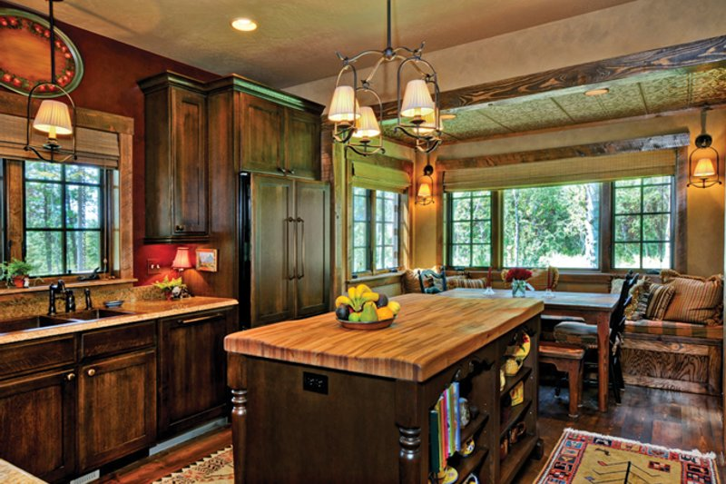 Cabin Interior - Kitchen Plan #942-25 - Houseplans.com