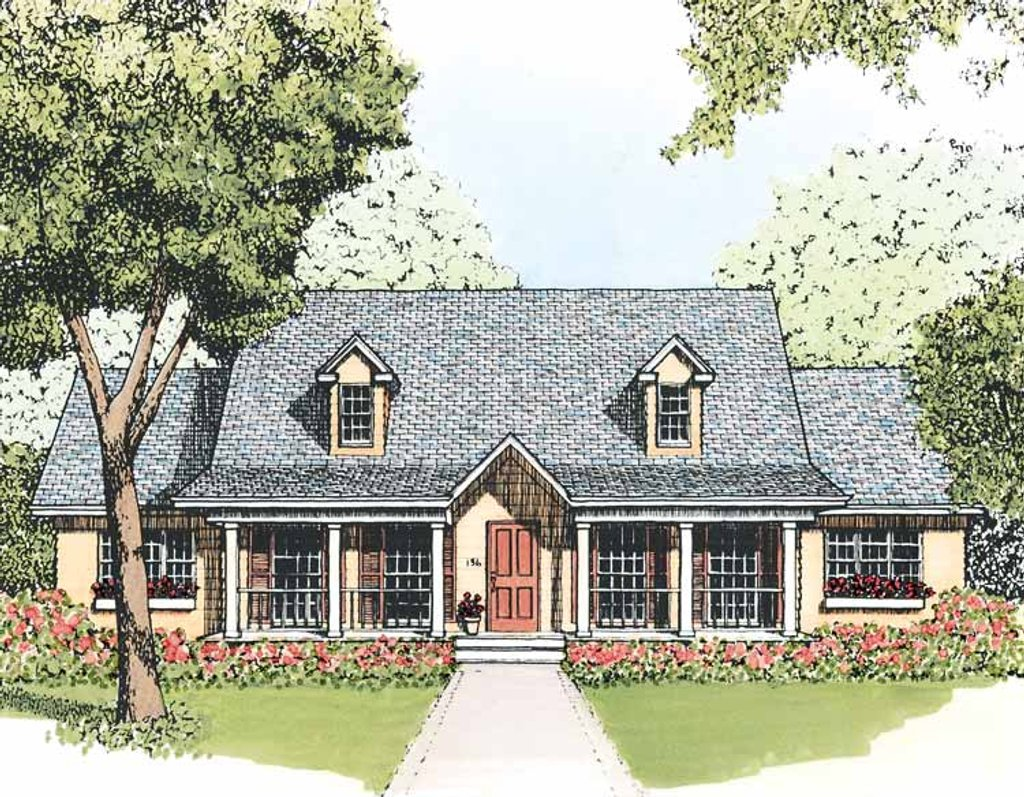 Country Style House Plan - 3 Beds 2 Baths 1512 Sq/Ft Plan #1051-8 on