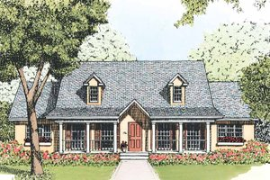 Dream House Plan - Country Exterior - Front Elevation Plan #1051-8