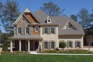 Country Exterior - Front Elevation Plan #54-360