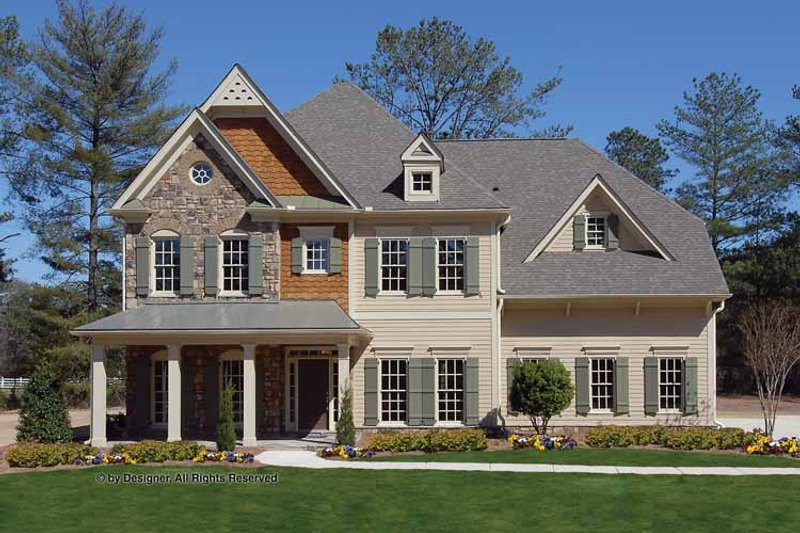 House Plan Design - Country Exterior - Front Elevation Plan #54-360