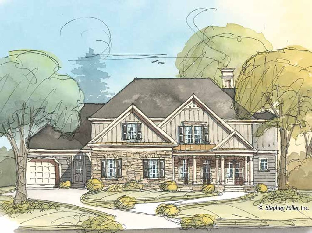Country style house plan 4 beds 3 baths 3322 sq ft plan for 429 plan