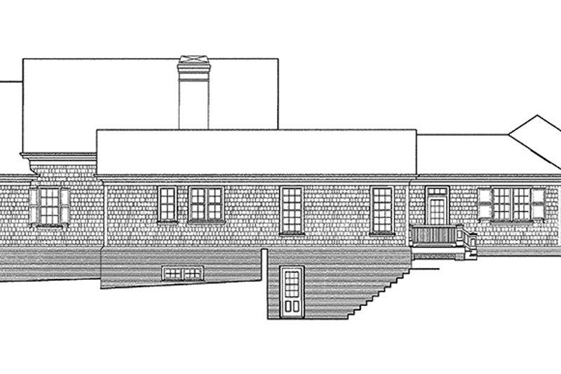 Classical Exterior - Rear Elevation Plan #429-248 - Houseplans.com