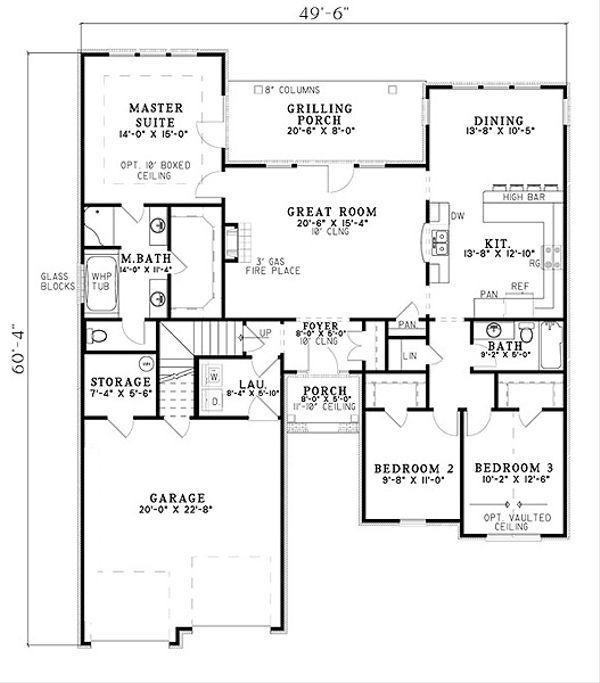 Traditional Floor Plan - Main Floor Plan Plan #17-2394