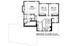 Southern Floor Plan - Upper Floor Plan Plan #70-1230