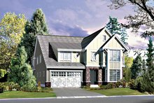Architectural House Design - Country Exterior - Front Elevation Plan #132-419