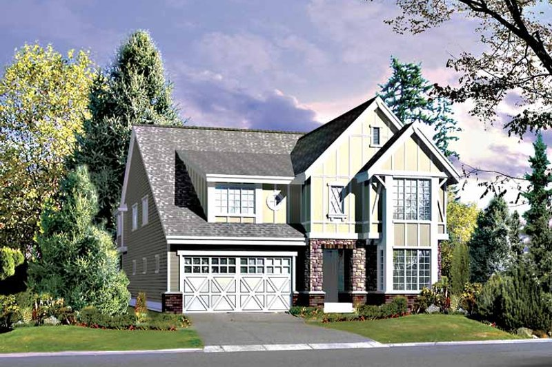 Home Plan - Country Exterior - Front Elevation Plan #132-419