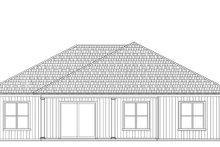 House Plan Design - Craftsman Exterior - Rear Elevation Plan #938-101