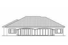 Mediterranean Exterior - Rear Elevation Plan #1017-139