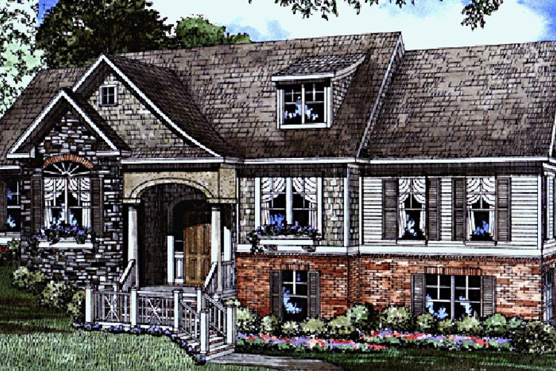 Dream House Plan - Contemporary Exterior - Front Elevation Plan #17-2798