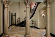 House Design - Tudor Interior - Entry Plan #928-61