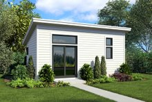 Contemporary Exterior - Front Elevation Plan #48-1025