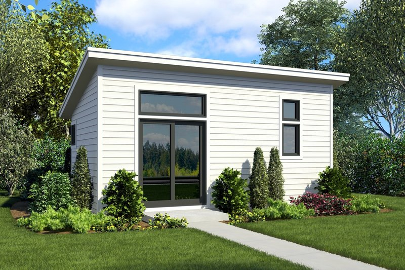 House Plan Design - Contemporary Exterior - Front Elevation Plan #48-1025