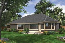 Architectural House Design - Ranch Exterior - Rear Elevation Plan #132-544