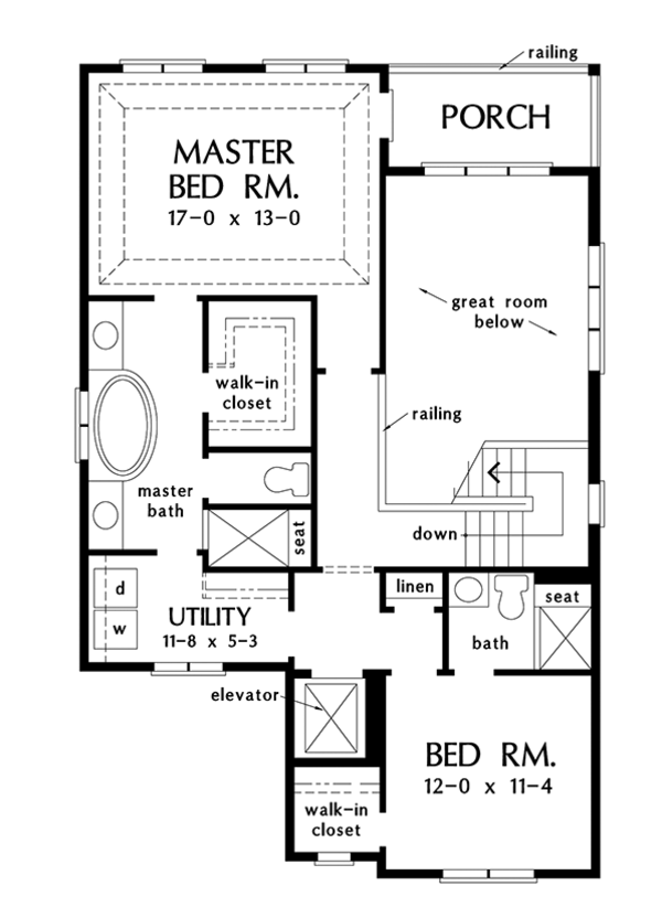 Dream House Plan - Country Floor Plan - Upper Floor Plan #929-996