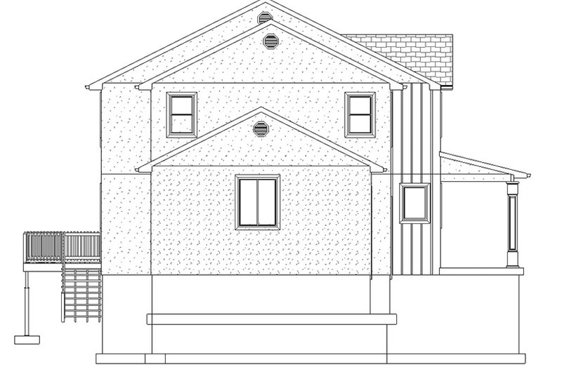 Traditional Exterior - Other Elevation Plan #1060-15 - Houseplans.com