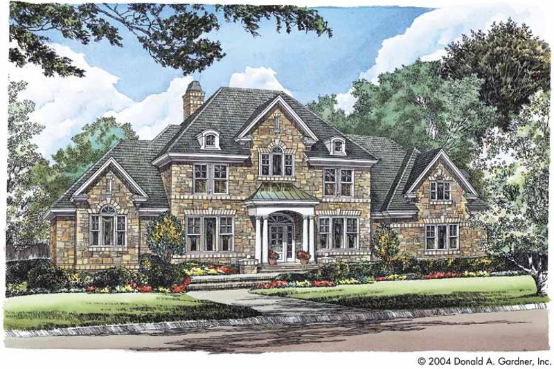 Classical Style House Plan - 4 Beds 4 Baths 3367 Sq/Ft Plan #929-538 Exterior - Front Elevation